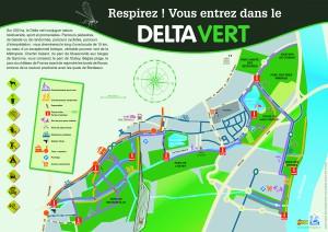 Le plan du Delta vert