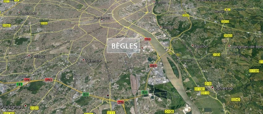 Vue aérienne de Bègles