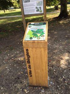 Pupitre information Parc de Mussonville