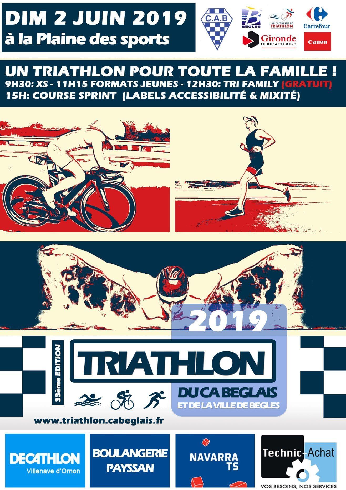 triathlon du ca béglais et de la ville de Bègles