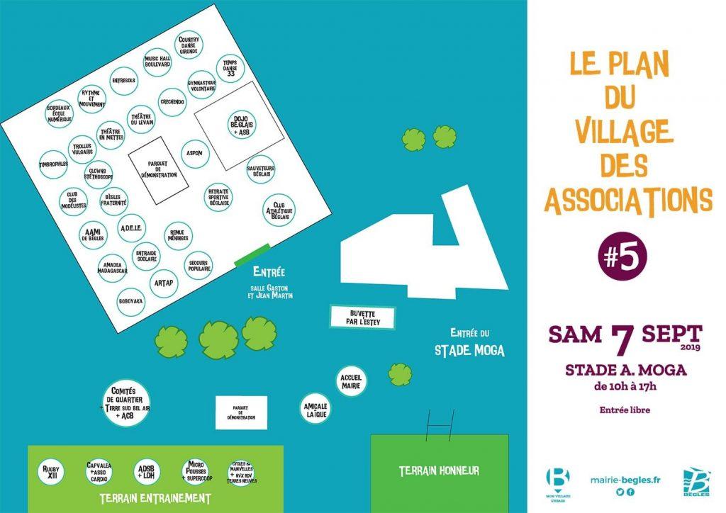 Plan du village des associations
