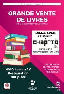 Grande vente de livres et revues de la Bibliothèque Municipale de Bègles